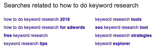 how to search for keywords