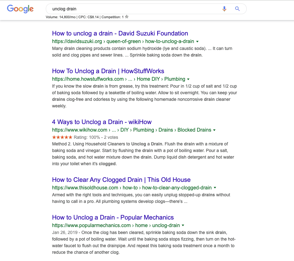 on page seo intent of searcher