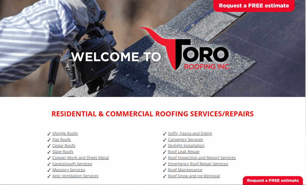 reasons why small businesses need a website roofing services